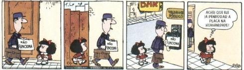 """Importante é o que a Mafalda pensa de mim"", já dizia Julio Cortazar"