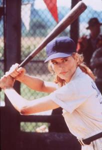 """13 - Geena Davis (""""Uma Equipe Muito Especial"""" e, também, """"Herói por Acidente"""")"""