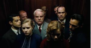 "Amy Adams, Phillip Seymour Hoffman e Joaquin Phoenix, em ""O Mestre"""